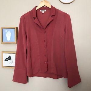 Medium mauve Monteau blouse